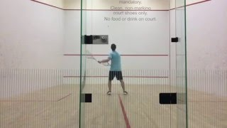 Serious Squash Skill Challenge #43: Double Racquet Stationary Forehand to Forehand Volleys