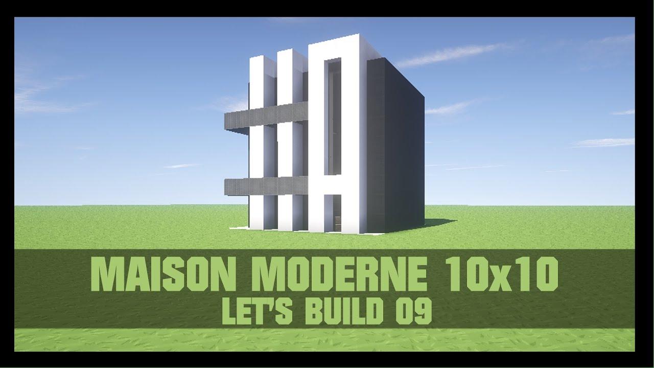 Tuto comment construire une maison moderne 10x10 dans for Construire une maison terraria