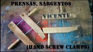 Como hacer Prensas, Sargentos DIY (Hand Screw Clamps) con Pallets
