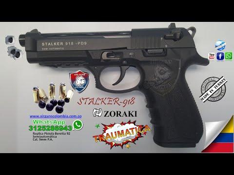 PISTOLA TRAUMATICA ZORAKI 918 ARME, DESARME Y ENSAYO Whatsapp 3213112973 AIRGUNS COLOMBIA