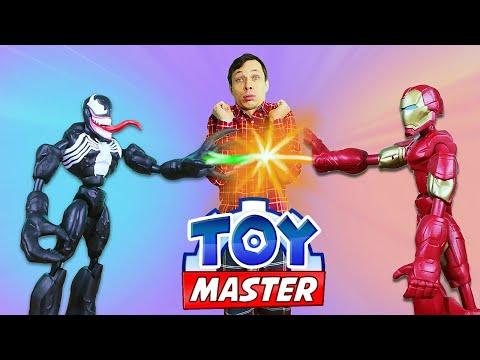 Видео с супергероями - Той Мастер и Железный Человек против Венома! – Онлайн игры для мальчиков