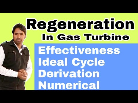Regeneration in Gas Turbine Numerical Problem | Effectiveness | Ideal Cycle | Derivation