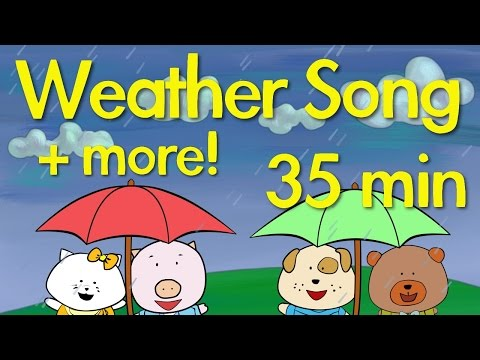 Weather Song, Summer Song + more! | Kids Song Compilation | The Singing Walrus