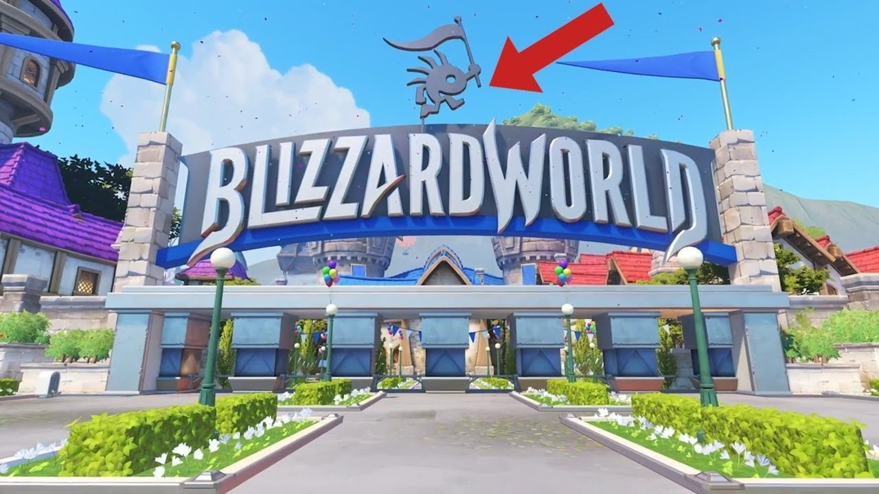 overwatch blizzard easter eggs in the new blizzard world map trailer
