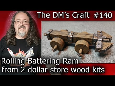 ROLLING BATTERING RAM From 2 Dollar Store Wood Kits (DM