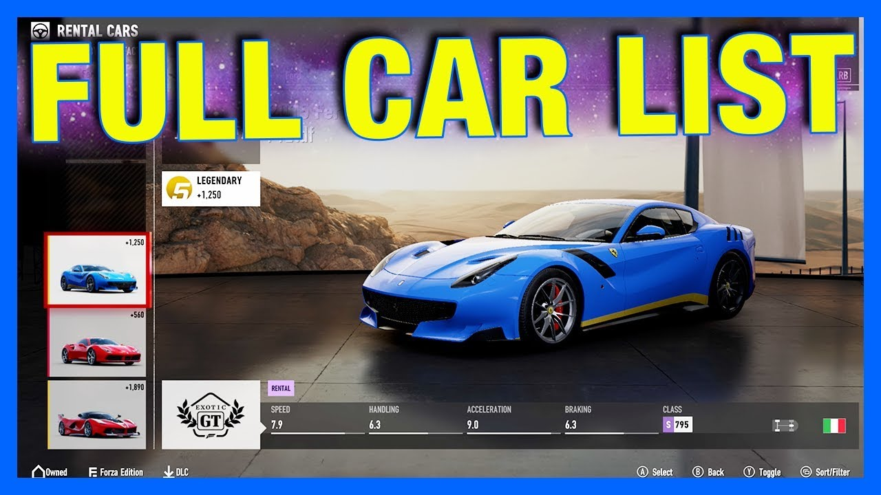 forza motorsport 7 full car list dlc cars forza. Black Bedroom Furniture Sets. Home Design Ideas