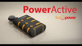 Water Resistant Rugged Portable Charger - FosPower PowerActive