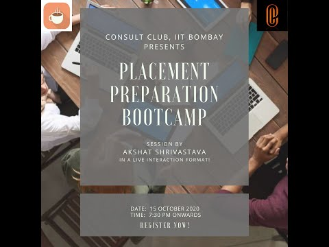 Consulting Placement Preparation Bootcamp 2020-21, IIT Bombay