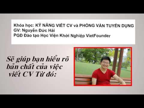 Dạy Viết CV_Phỏng vấn tuyển dụng