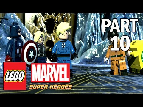 Lego Marvel Super Heroes Walkthrough - Part 10 THOR & LOKI - PS4 Gameplay