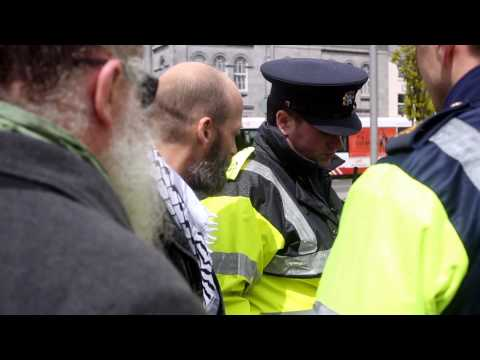 ReOccupy 2013- Gardai infringing the rights of Irish citizens in Galway, Ireland