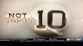 Not Top 10 Sports Plays SportsCenter NotTop 10 Plays 10/14/18
