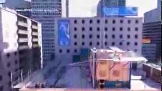 Chase играет в Mirror's Edge (№ 2) - Chase расшибил руку!