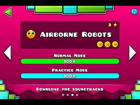 GEOMETRY DASH MELTDOWN - Level #3 - Airborne Robots - All Secret Coins -