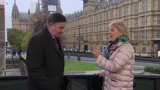 Tory MP Anna Soubry Called 'Nazi' By Chanting Protesters Live On BBC News
