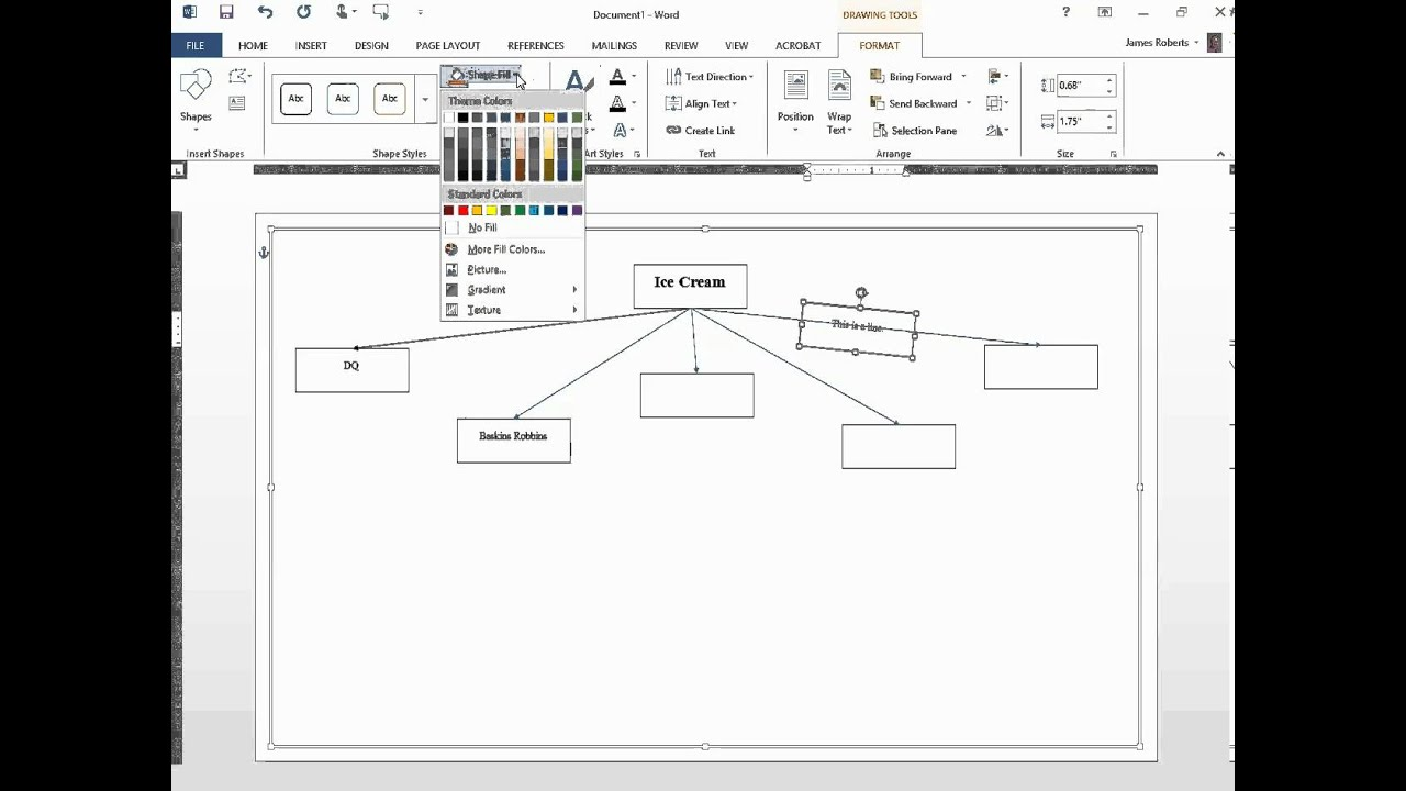 Word How to create a flowchart, mind map, web, learning map, etc.