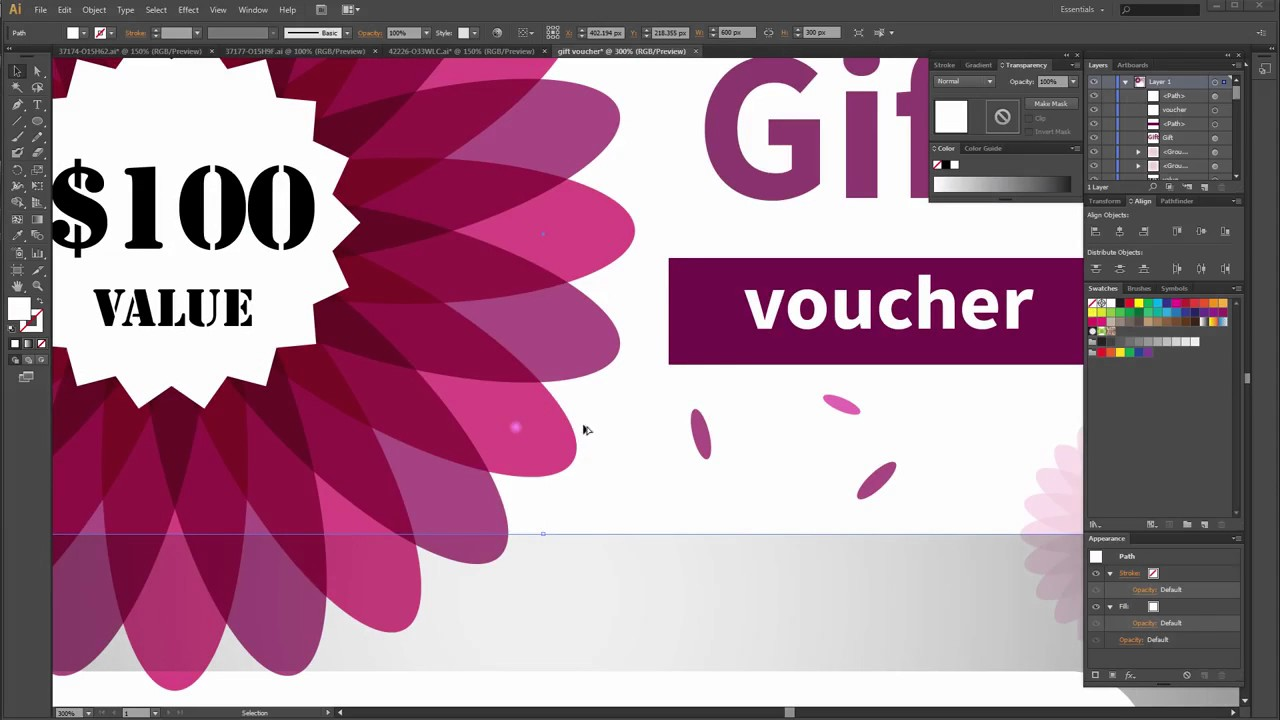 How To Create A Gift Voucher Vector In Adobe Illustrator  Create Voucher