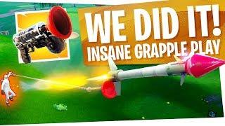 WE DID IT! INSANE Grappler + Guided Missile Trickshot for Victory Royale - Fortnite Battle Royale