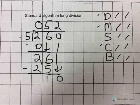 Standard Algorithm Long Division