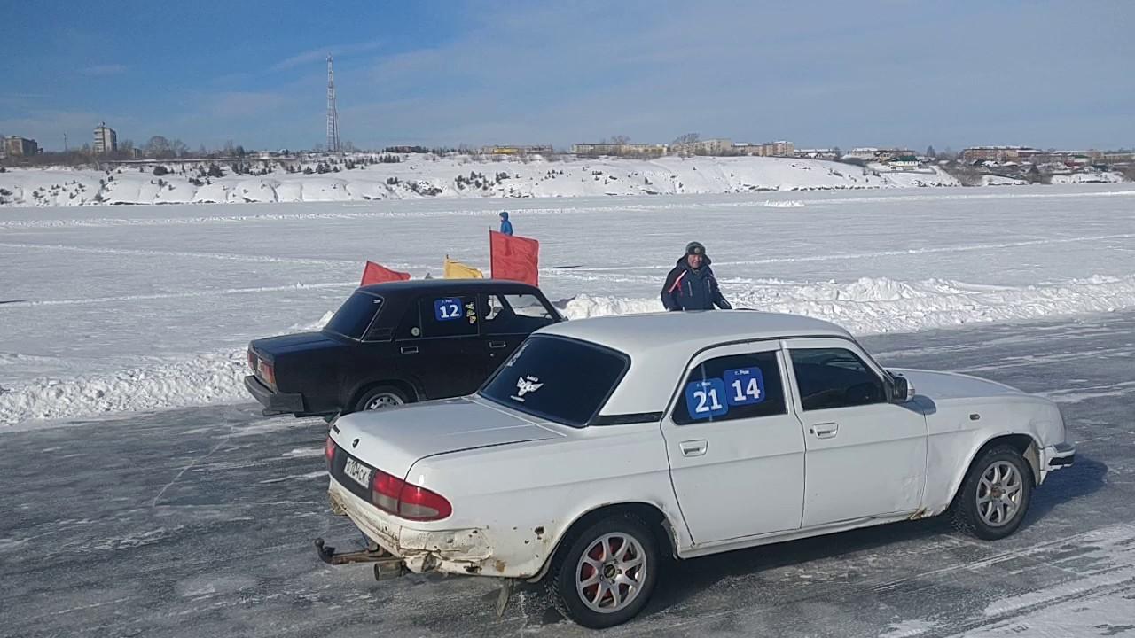 Гонки на льду. Город реж 2019. Моя заряженная 2107.