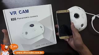 Como configurar câmera 360 olho de peixe IP VR Cam