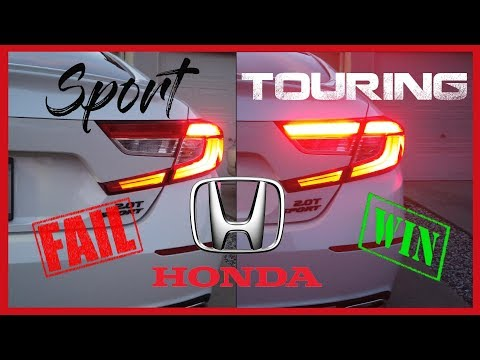 2018-2019 Honda Accord Touring Taillights on Sport Trim
