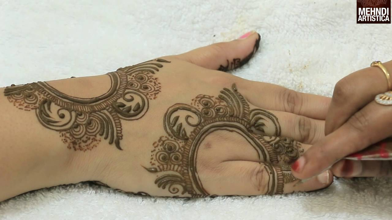 Dubai Style Easy Simple Beautiful Floral Mehndi For Hands Latest Stylish Mehendi By Mehndiartistica Youtube
