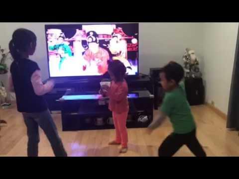Kids dancing to bong bong bang bang