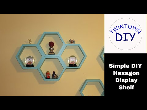 How to Make a DIY Simple Hexagon/Honeycomb Floating Wall Display Shelf