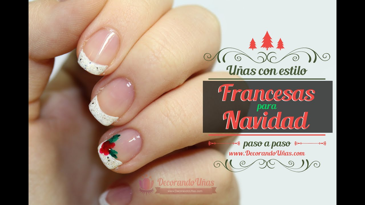 U as francesas decoradas para navidad youtube - Decoracion para las unas ...