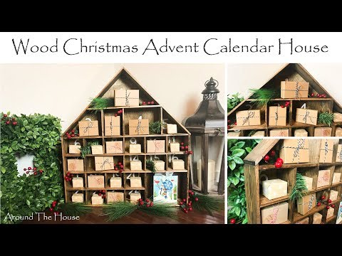DIY Wood Christmas Advent Calendar House