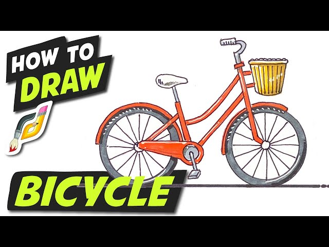 How to Draw BICYCLE - Easy Fun Simple Beginner