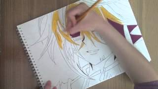 Quattro from yugioh zexal part 2  (Speed drawing)
