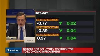 ECB's Draghi Touts Actions Benefitting Real Economy