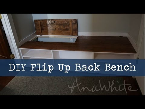 Diy Mudroom Bench With Hidden Boot Storage Youtube