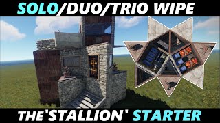 Solo/Duo/Trio Modular Rust starter Base Design - (20 Rockets to TC) - 'The Stallion'