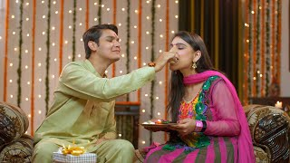 Naughty Indian brother happily teasing her sister on the special occasion of Raksha Bandhan