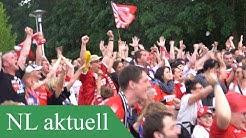 Public Viewing Weiche Flensburg gegen FC Energie Cottbus im Stadion der Freundschaft