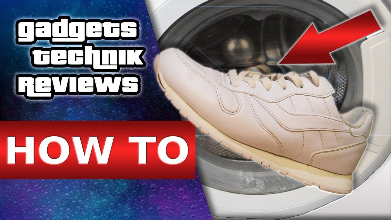 Schuhe in der Waschmaschine waschen. </p>                 </div>                 <div id=