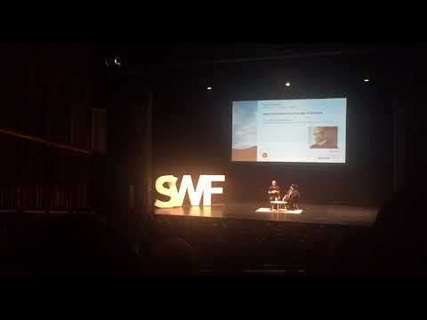 Pulitzer Prize-winning novelist Junot Diaz gives a lecture at SWF