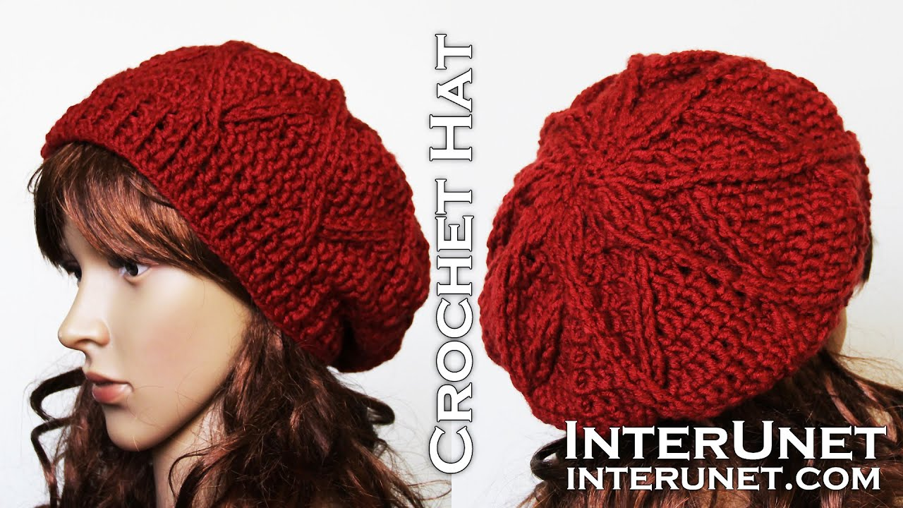 How to crochet a hat - slouchy hat crochet pattern - YouTube 670496771ef