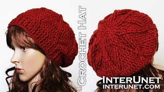 How to crochet a hat - slouchy hat crochet pattern
