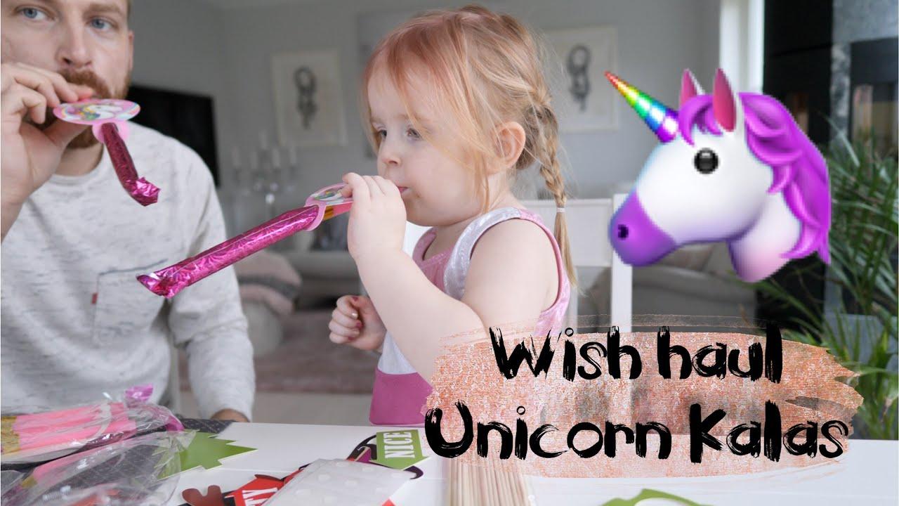 Wish HAUL med Unicorn kalastema - 28 Jan 2018 VLOGG