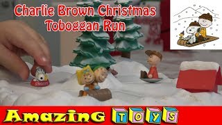 Charlie Brown Christmas Toboggan Run Electronic Toy with Peanuts Song