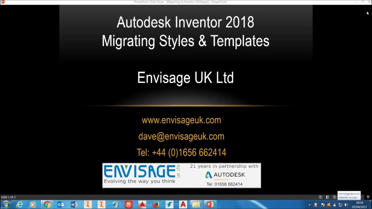 Autodesk Inventor 2018 install - Migrate Styles & Templates - YouTube