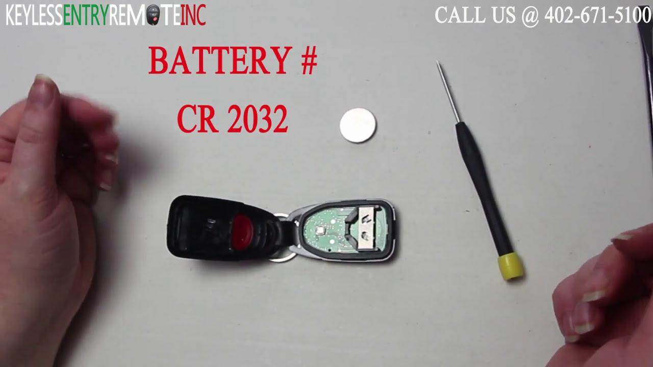 How To Replace Hyundai Sonata Key Fob Battery 2014 Youtube