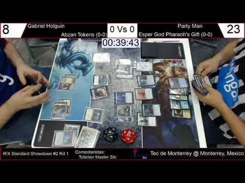 Standard Showdown Rivals of Ixalan #2 - Rd 1: Abzan Tokens vs UW God Pharaoh's Gift