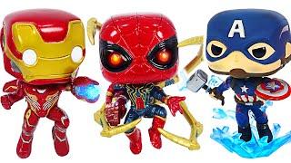 Marvel Funko Pop! Thor hammer Captain America and Nano Gauntlet Iron Spider! | DuDuPopTOY