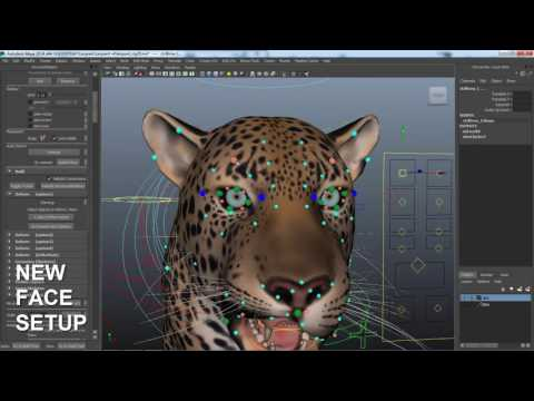 Leopard Maya rig - new facial setup