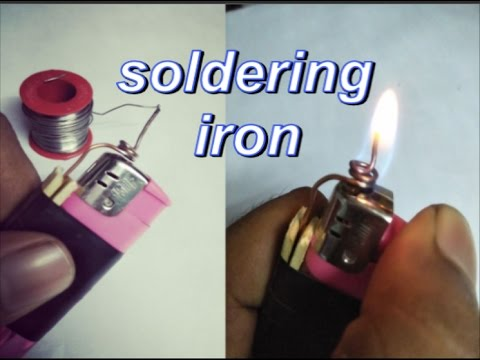 easy to make soldering iron by lighter everyone can do it creative video youtube. Black Bedroom Furniture Sets. Home Design Ideas